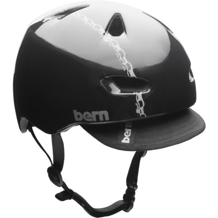 Bern Brentwood Helmet w/Graphic and Visor