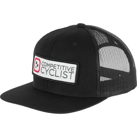 Logo Flat Bill Trucker Hat Competitive Cyclist