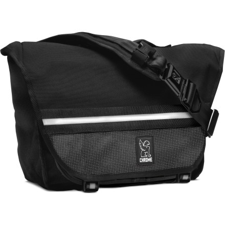 Mini Buran Laptop Messenger Bag Chrome