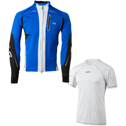 Louis Garneau Massimo Two Jacket with Sprint Baselayer Gift Package