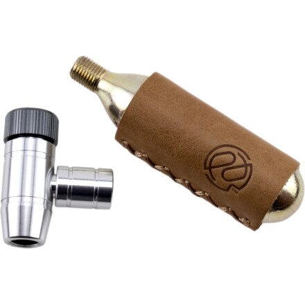 Portland Design Works Shiny Object CO2 Inflator with Leather Sleeve and Cartridge