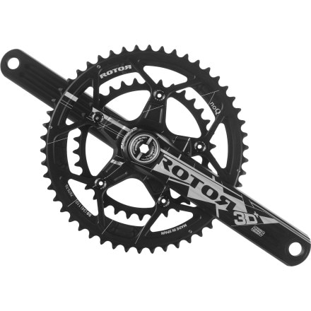 Rotor 3D Plus Road Crankset With Round Chanrings