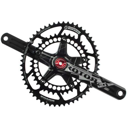 Rotor 3D Plus Road Crankset With Q-Rings