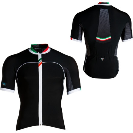 Santini H2 Zero Full-Zip Jersey - Short-Sleeve - Men's
