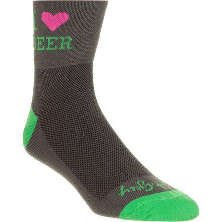 Heart Beer 3in Socks SockGuy