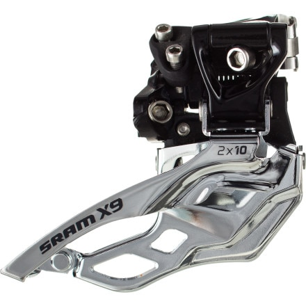 SRAM X9 2x10 High Clamp Front Derailleur
