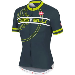 Castelli Segno Full-Zip Jersey - Short Sleeve - Men's