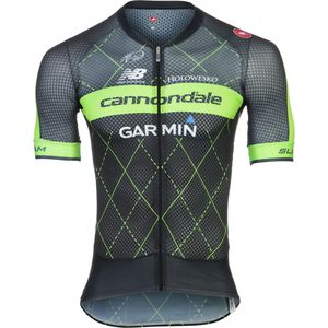 Castelli Cannondale/Garmin Climber's 2.0 Full-Zip Jersey - Short Sleeve - Men's