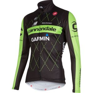 Castelli Cannondale/Garmin Thermal Full-Zip Jersey - Long-Sleeve - Men's