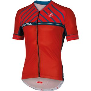 Castelli Scotta Full Zip Jersey - Short Sleeve - Men's