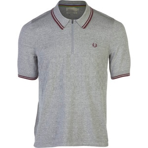 Fred Perry USA Checkerboard Knitted Cycling Shirt - Short-Sleeve - Men's