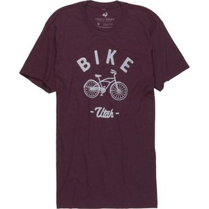 Locally Grown Bike Cruiser Utah Tri-Blend Vintage T-Shirt - Short-Sleeve - Men's