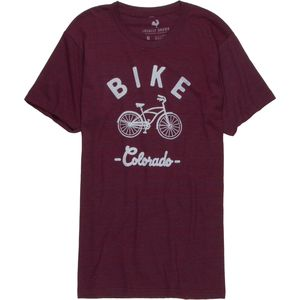 Locally Grown Bike Cruiser Colorado Tri-Blend Vintage T-Shirt - Men's
