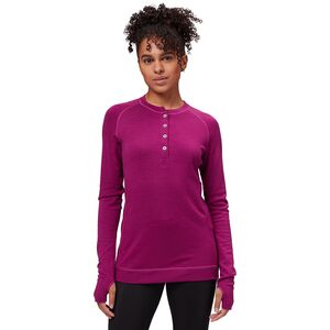 Bamboo-Merino Long-Sleeve Henley - Women's