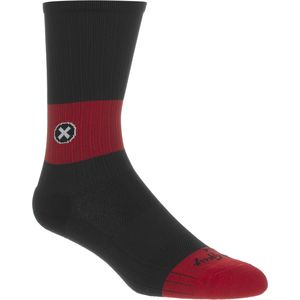 SockGuy SGX8 Black/Red Socks