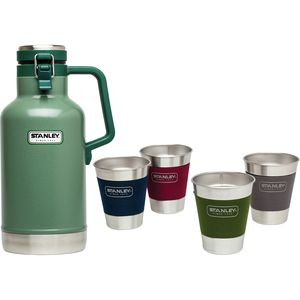 Stanley Classic 64oz Vacuum Growler + Adventure 12oz Stacking Steel Tumblers Gift Set