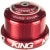 Chris King InSet 3 Tapered Headset with Griplock Red