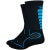 DeFeet Levitator Trail 6in Socks Black/Process Blue