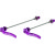 Salsa Stainless Flip-Offs Skewer - Pair Purple