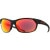 Smith Pivlock Overdrive Sunglasses Black/Red Sol-X/Ignitor-Clear