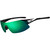 Tifosi Optics  Podium XC Interchangeable Sunglasses  Black-White/Clarion Green-AC Red-Clear