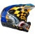 Troy Lee Designs D3 Carbon Fiber Helmet 3/4 Back