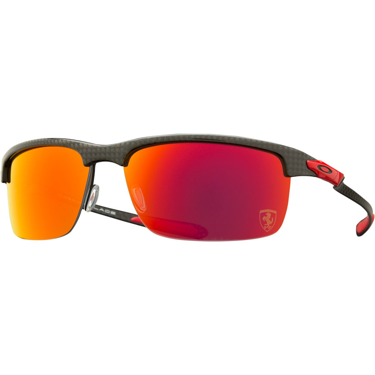 oakley eyewear qboy  Oakley Limited Edition Ferrari Carbon Blade Sunglasses