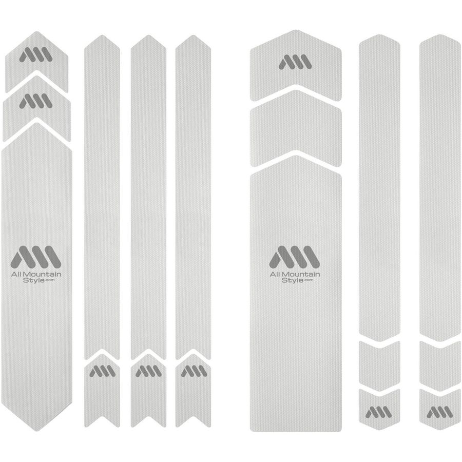 All Mountain Style HONEYCOMB Frame Guard Protection Stickers CLEAR//SILVER XXL