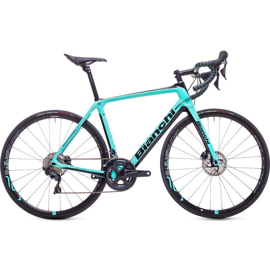 A green Bianchi CV Disc Ultegra Women's Carbon Road Bike