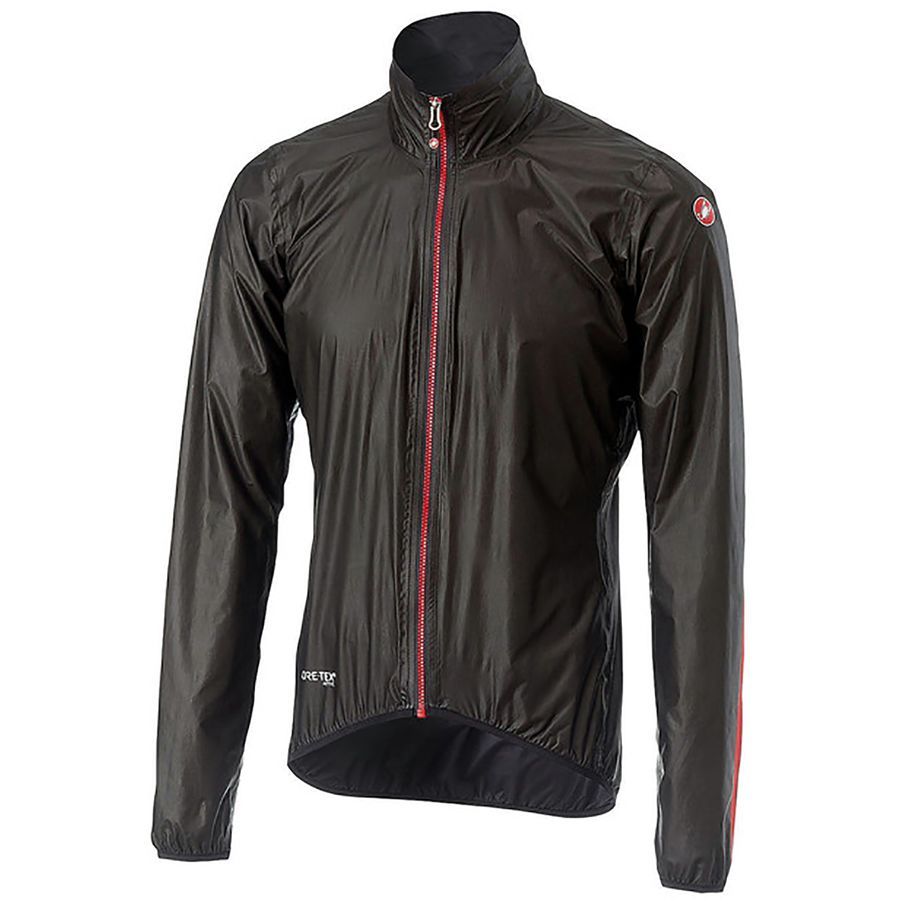 Castelli Idro Women/'s Cycling Light Jacket Large Black Gore Shakedry Rain