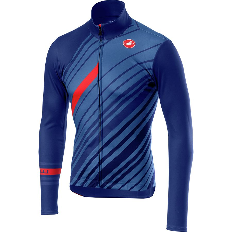 Castelli Cielo Full-Zip Long-Sleeve Jersey - Men s  7b05e46d4