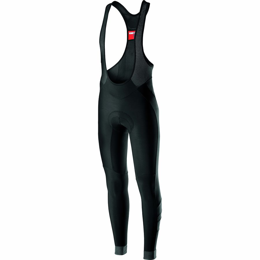 BLACK NEW Castelli VELOCISSIMO 4 Thermal Winter Cycling Bib Tights