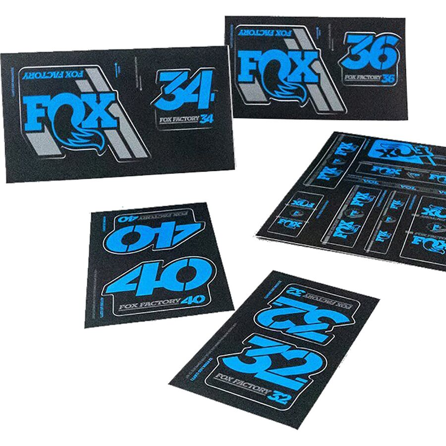 FOX Float X2 2020 Rear Shock Suspension Sticker Factory Decal Kit Adhesive Blue