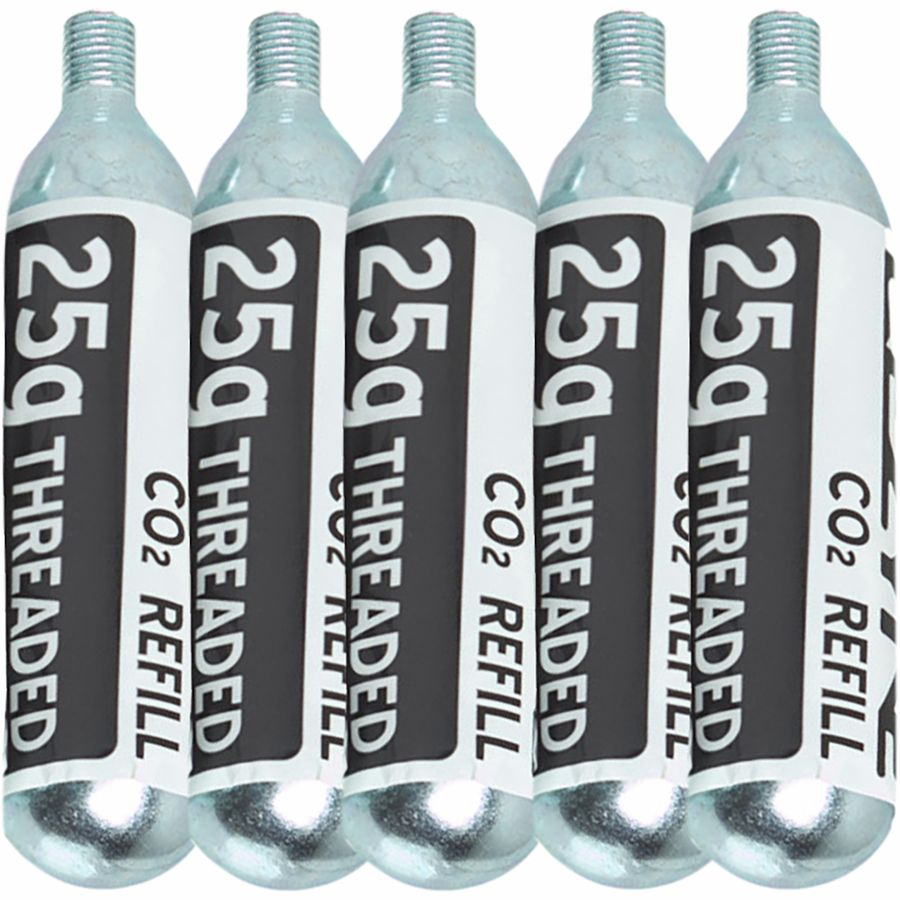 25G Threaded CO2 Cartridge - 5-Pack Refill