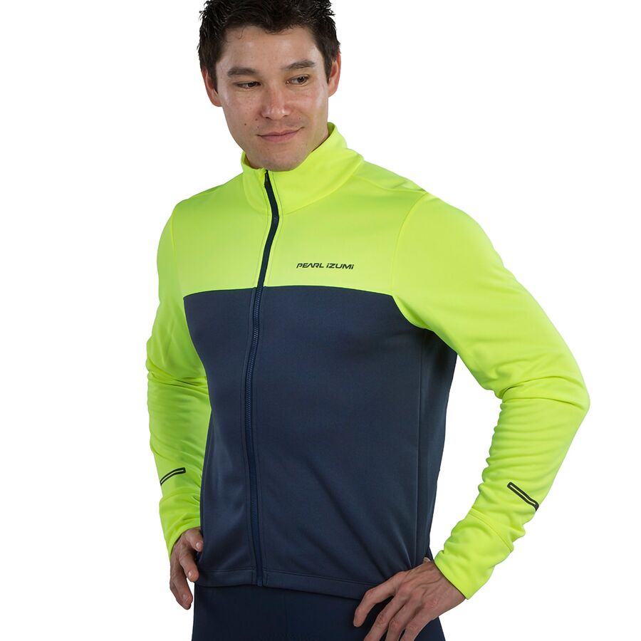 PEARL iZUMi Men/'s Bicycle Cycle Bike Quest Thermal Jersey Black