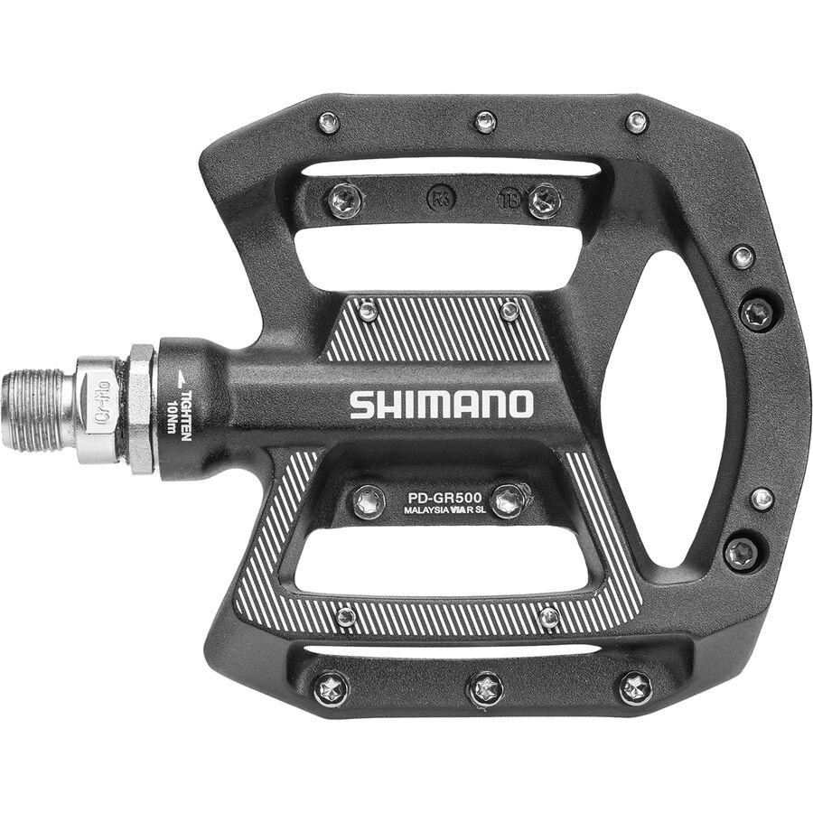 Flat Mountain Bike Pedals Shimano GR500