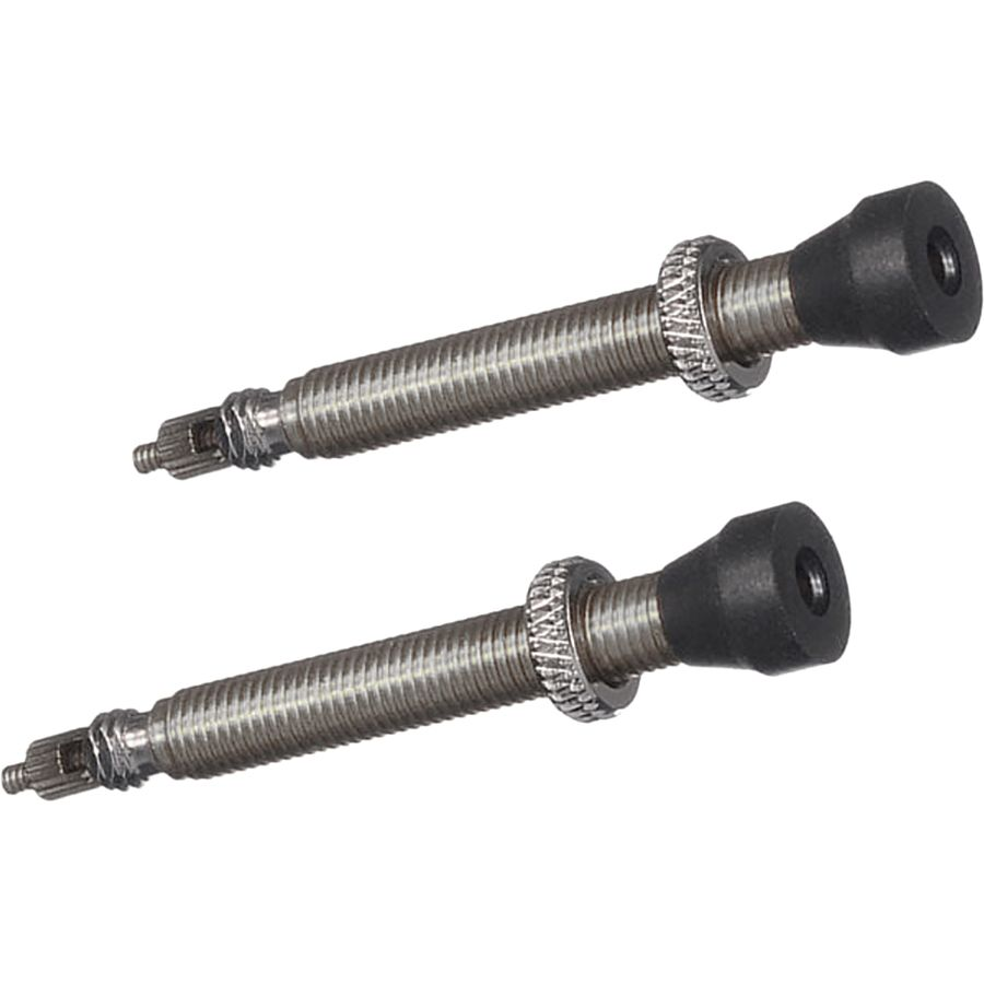 fits Road and Mountain 44mm Muc-Off Tubeless Valve Kit: Black Pair