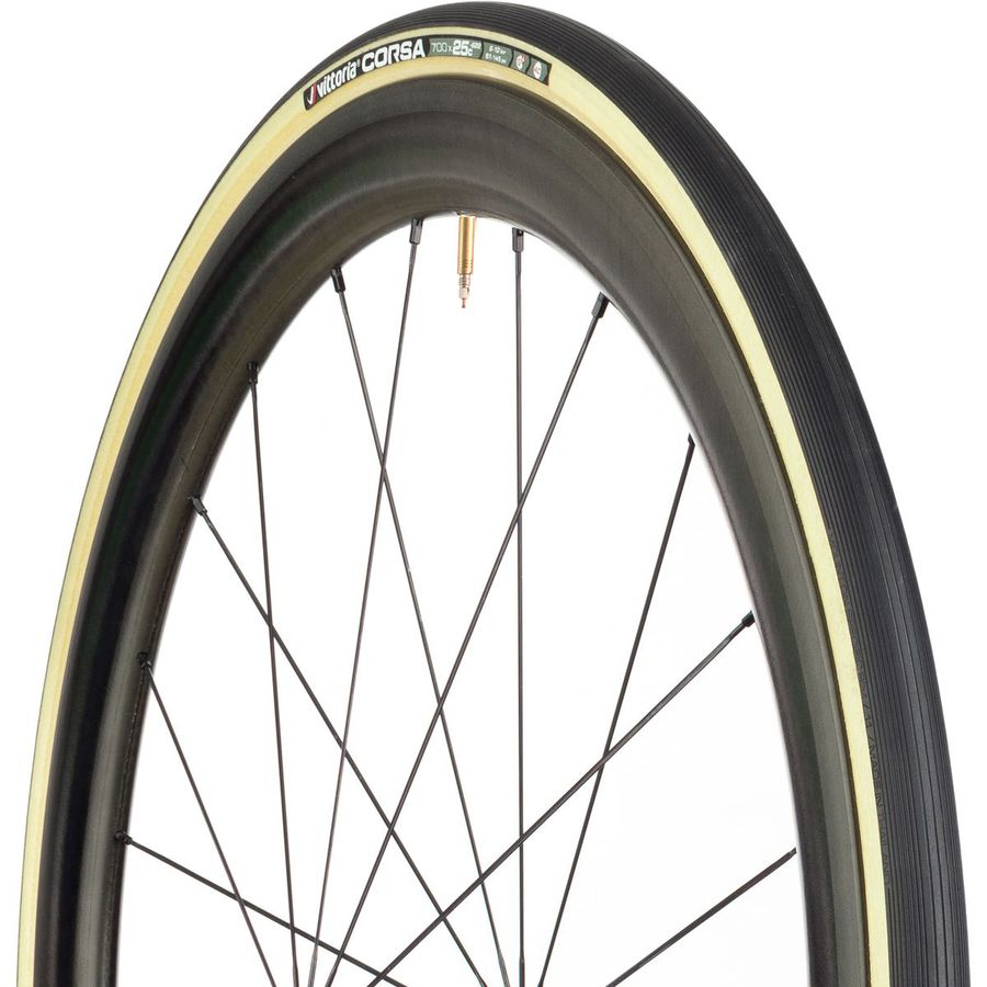 One Continental Grand Prix Classic Tire 700x25-Black//Transparent-Road Tire