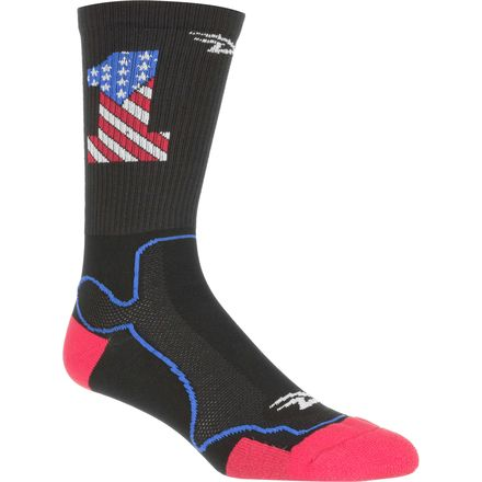 DeFeet Levitator Trail USA1 6in Sock