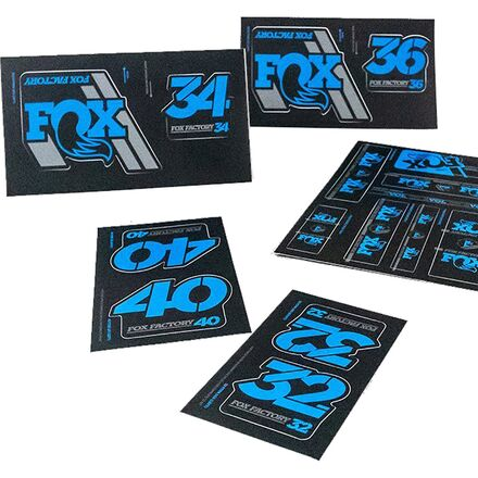 FOX 40 Forks Red Suspension Factory Style Decal Kit Sticker Adhesive Set