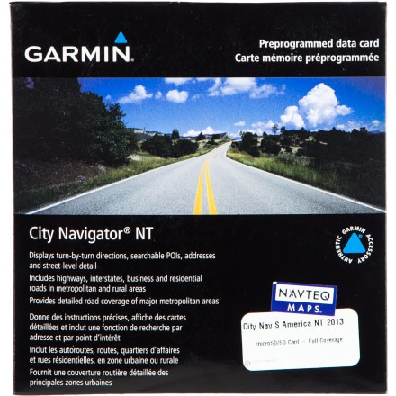 Garmin MapSource City Navigator South America NT