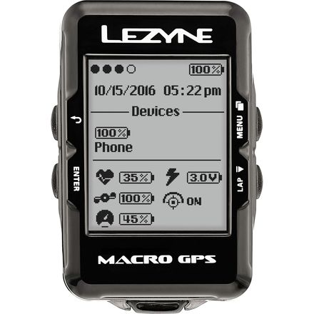 Lezyne Macro GPS HR Loaded Bike Computer
