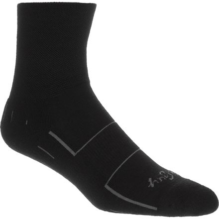 SockGuy Black 4in Wool Sock