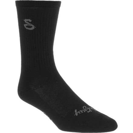 SockGuy Tall Black 6in Wool Socks