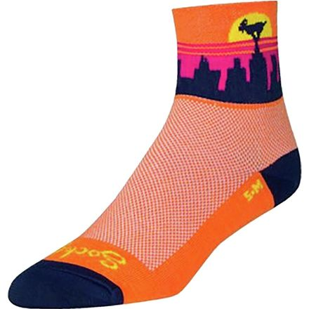 SockGuy Classic 3in Shattered Cycling//Running Socks