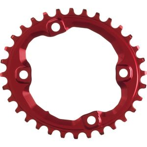Absolute Black Shimano Oval Traction Chainring