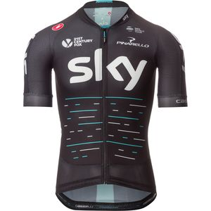 Castelli Team Sky Aero Race 5.1 Full-Zip Jersey - Short-Sleeve - Men's