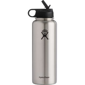 Hydro Flask 40oz Wide Mouth Water Bottle with Straw Lid