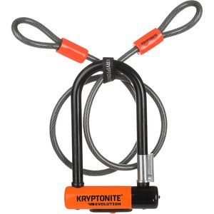 Kryptonite Evolution Mini-7 U-Lock - Doube Deadbolt w/ 120cm Cable