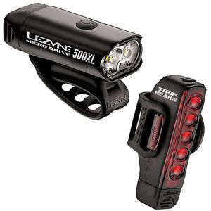 Lezyne Micro Drive 500XL and Strip 150 Light Combo